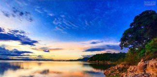 เขื่อนกระเสียว เป็นหนึ่งในสถานที่ที่สามารถชมความงดงาม ยามพระอาทิตย์ตกดินที่สวยที่สุด ของจังหวัดสุพรรณบุรี