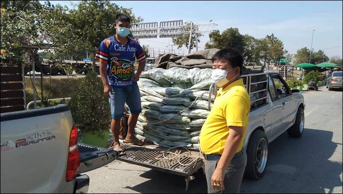 ผักคะน้าปั่นสุข ธารน้ำใจหลั่งไหลช่วยเกษตรคะน้าราคาตกต่ำ ด่านช้าง สุพรรณบุรี