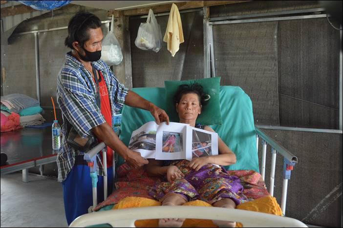 นายบุญชู จันทร์สุวรรณ ห่วงใยผู้พิการจากอุบัติเหตุ ส่ง สจ.หนุ่ม เขต2 อำเภอด่านช้าง เยี่ยมเยียน