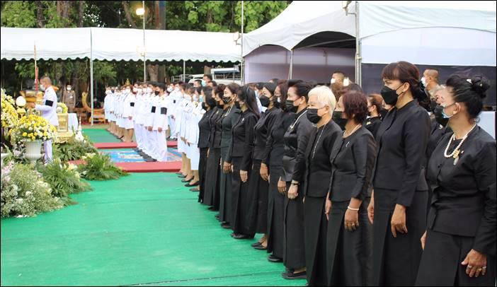 พิธีพระราชทานเพลิงศพ พระครูจันทสุวรรณาภรณ์ (หลวงเตี่ย) พระครู อาวุโส ของ จ.สุพรรณบุรี