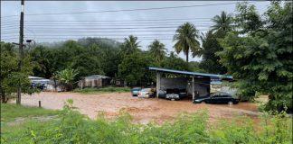 สุพรรณบุรี ฝนตกหนัก น้ำป่าทะลัก
